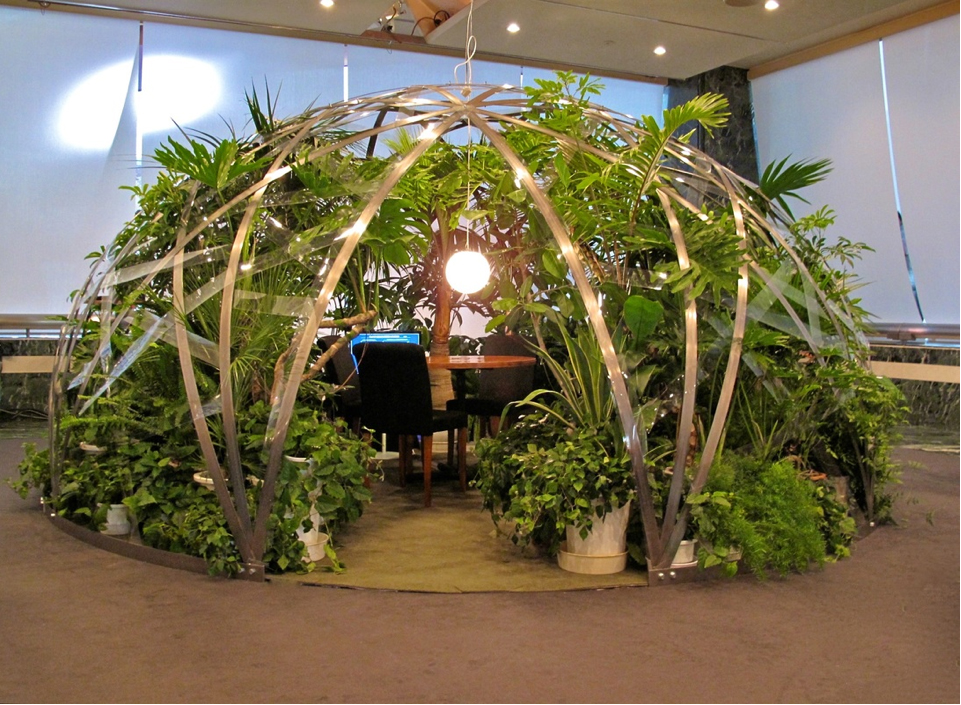 dome with sound of plants jean luc vilmouth artists mori yu